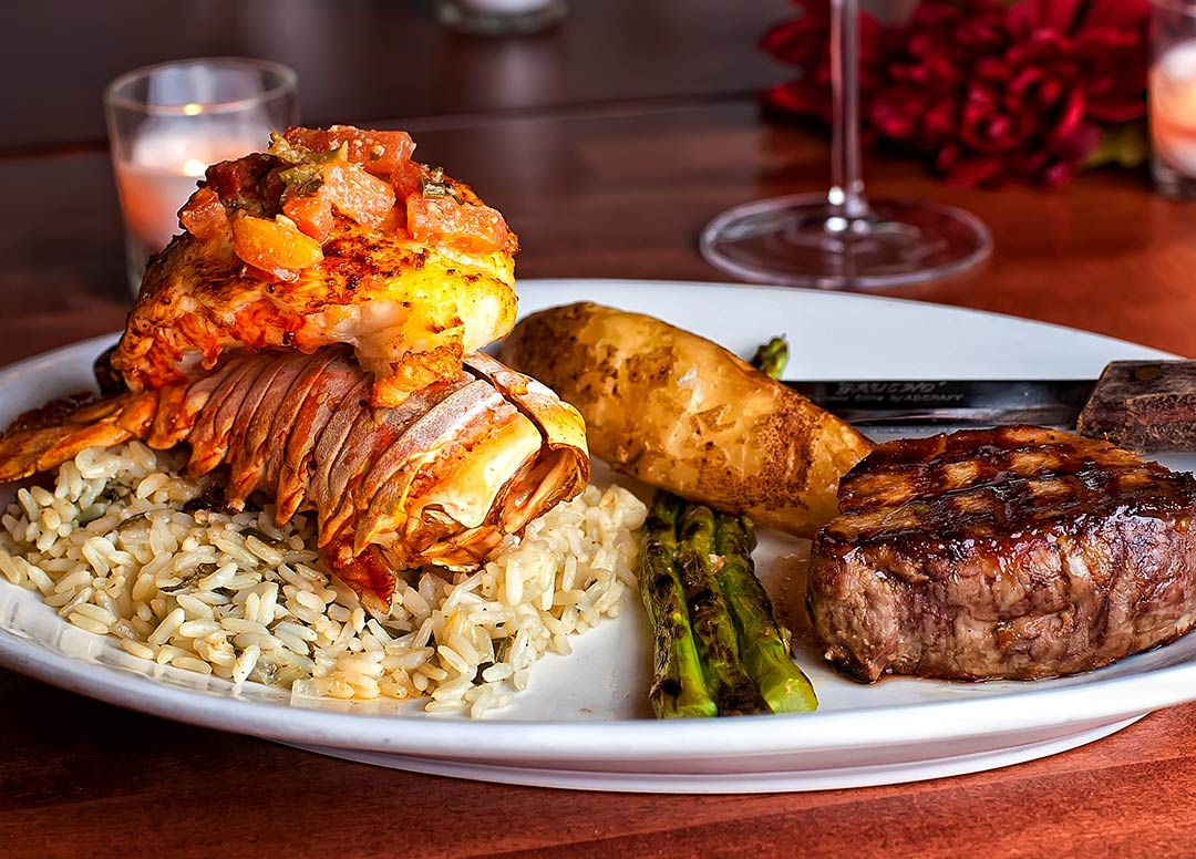 NYE Dinner Main Entree Surf and Turf | Opa Orlando